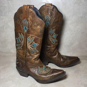 Black star western / cowboy boots 7